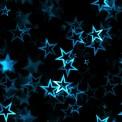 Lycra imprimé étoiles turquoise