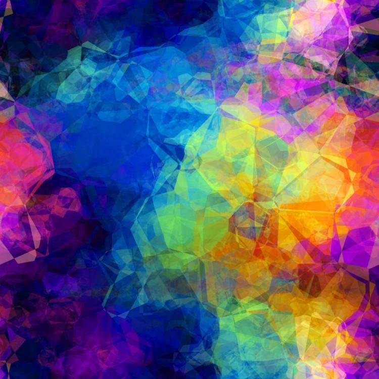 Lycra imprimé multicolor