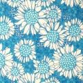 baptiste coton imprimée tournesols bleu