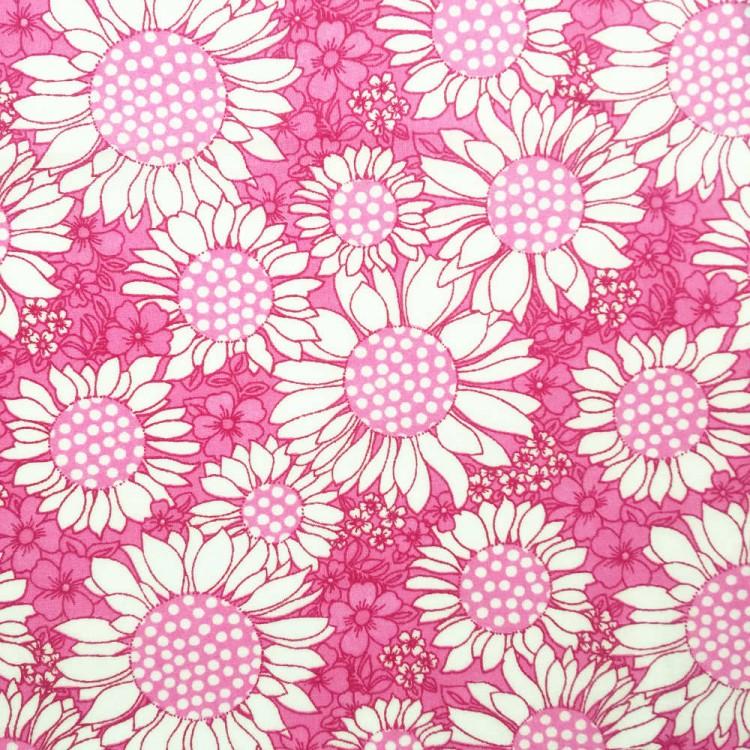 baptiste tournesol imprimée tournesols rose