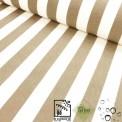 Toile d'extérieur rayures beige