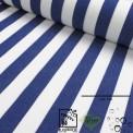 Toile d'extérieur grande largeur rayures bleu