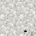 Tissu enduit fleurs japonaises