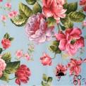 Tissu enduit ciel fleuri