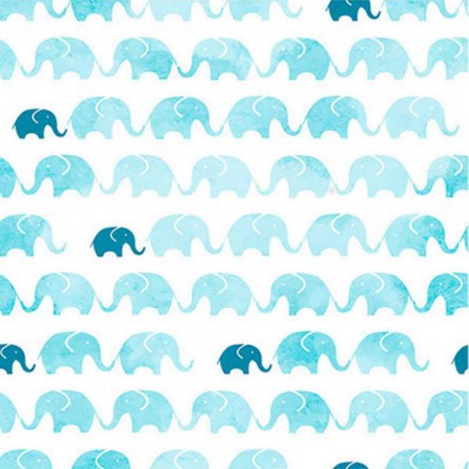 Coton imprimé éléphants