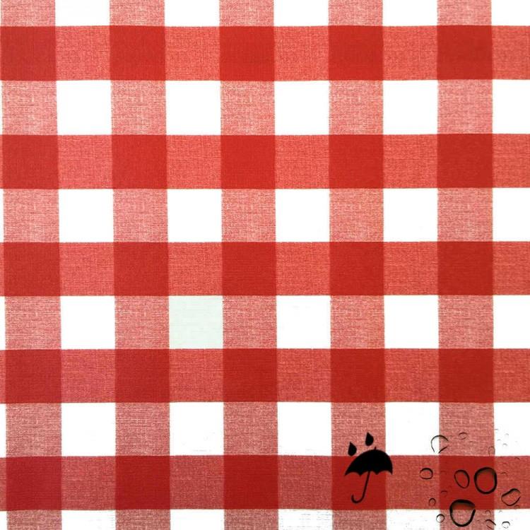 Toile cirée vichy rouge