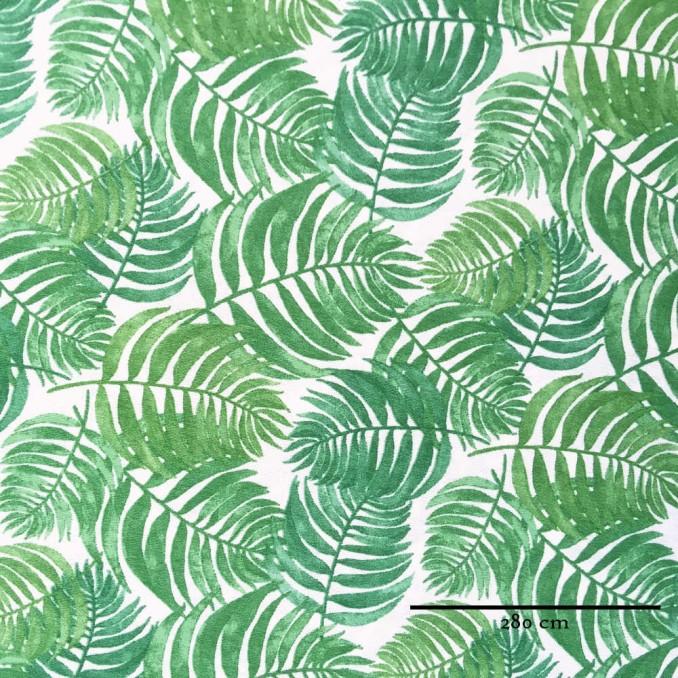 Toile grande largeur feuilles tropicales