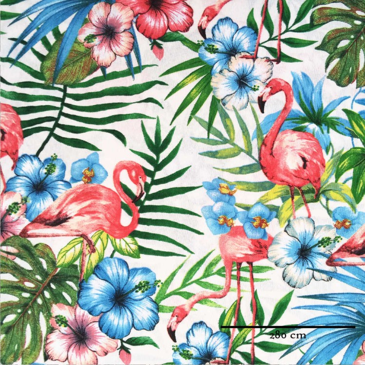 Toile grande largeur flamand rose