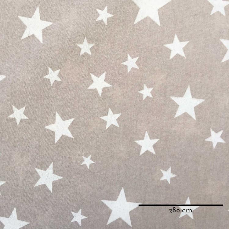 Toile grande largeur étoiles fond lin