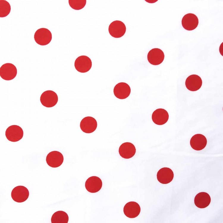 Coton imprimé FLAMENCO pois rouge