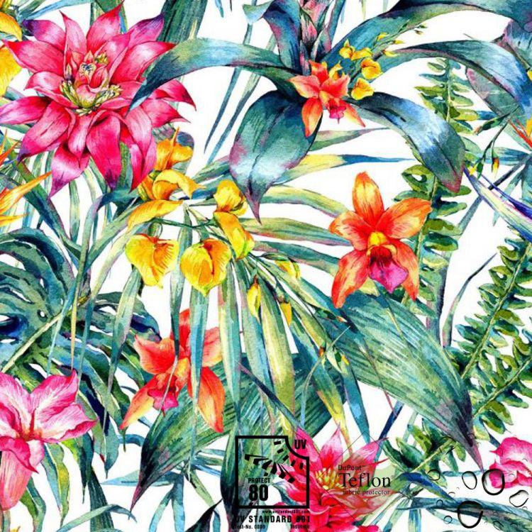 toile d 39 exterieur imprim e fleurs superbes ext rieurs. Black Bedroom Furniture Sets. Home Design Ideas