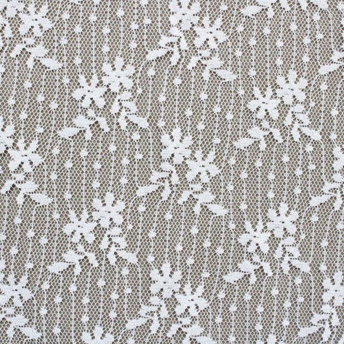 dentelle ligne fleurs