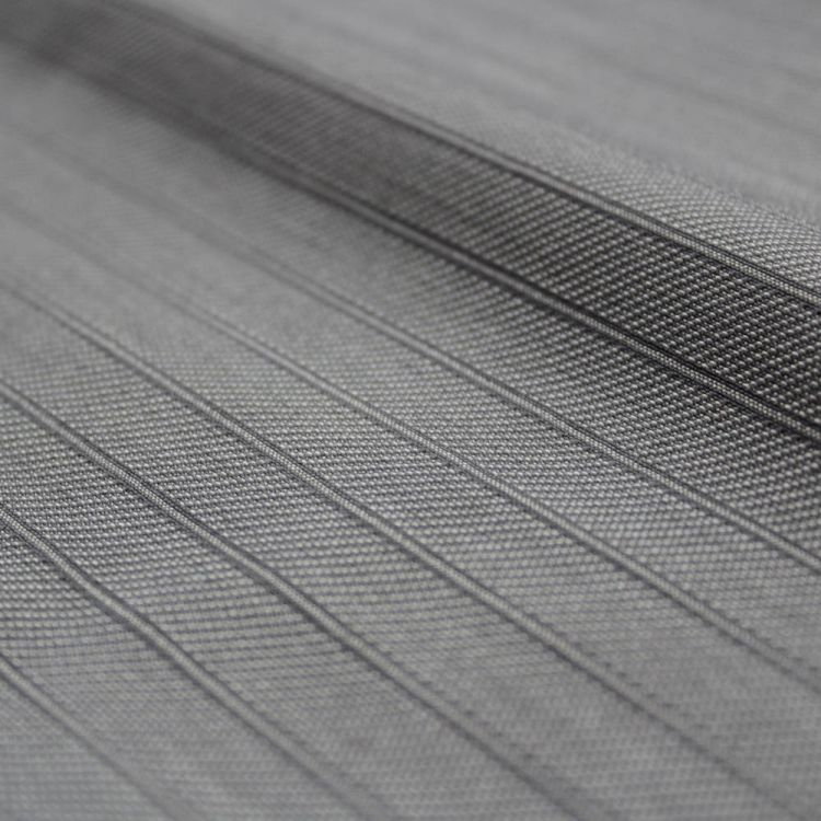 serge strech rayure gris