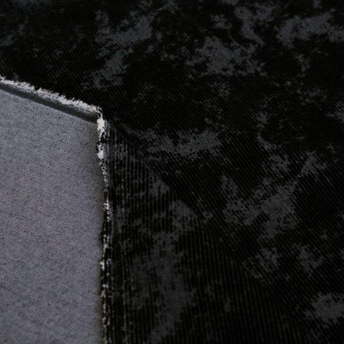 jean strech imprimé velours noir