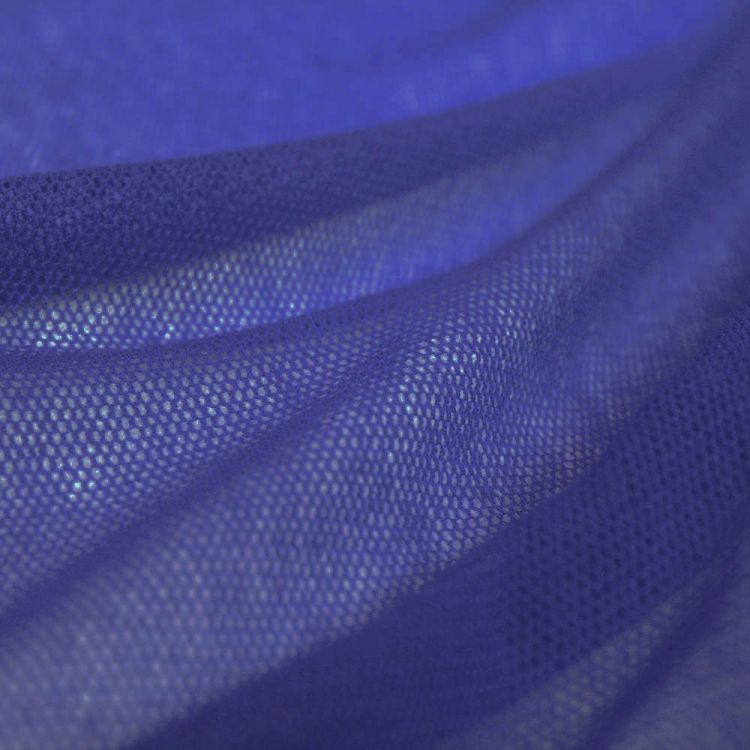 Tulle coton bleu