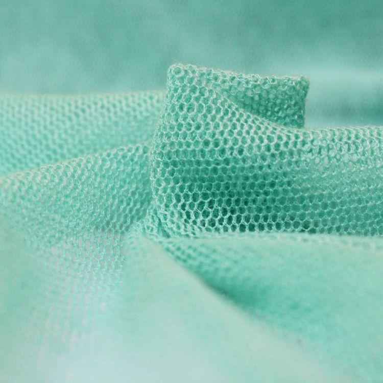 Tulle coton vert eau