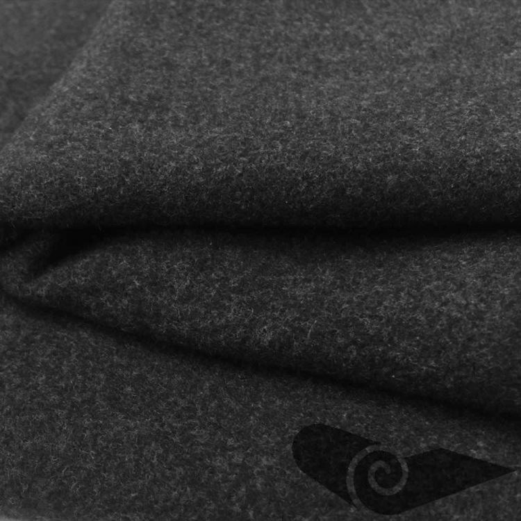 Rouleau drap manteau gris anthracite