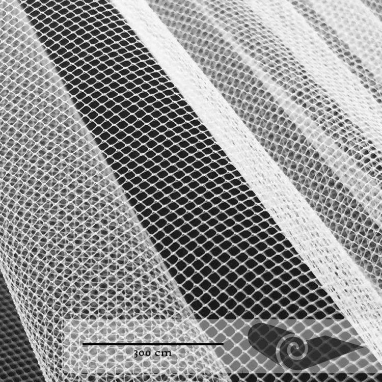 Rouleau 35 mts tulle grande largeur blanc