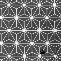 Tissu enduit asanoha gris/blanc