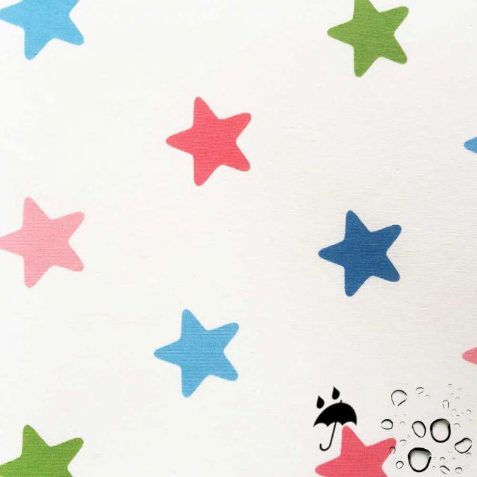 Tissu enduit étoiles enfant