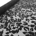 dentelle fleur géante noir