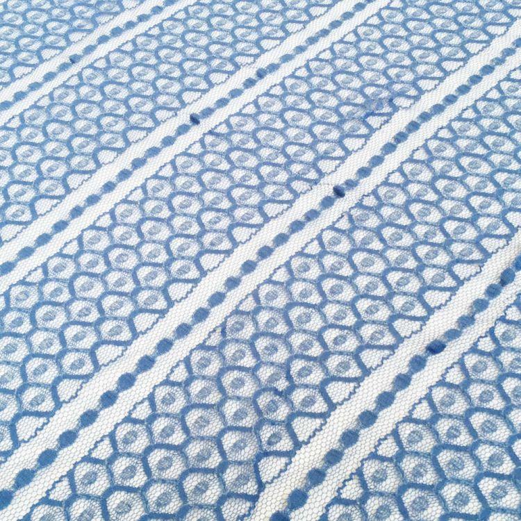 dentelle hexagone bleu