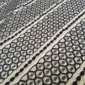 dentelle hexagone noir