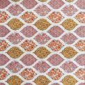 Coton imprimé géométrie florale rouge