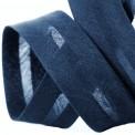 Biais élastique coton marine
