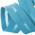 Biais élastique coton turquoise
