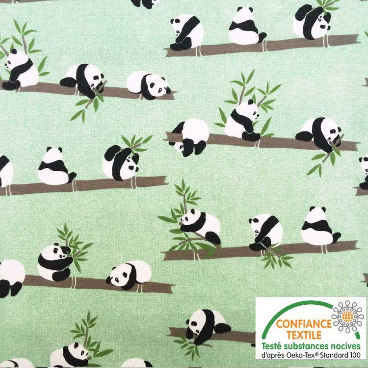 Coton imprimé PANDA