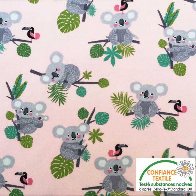 Coton imprimé Koala