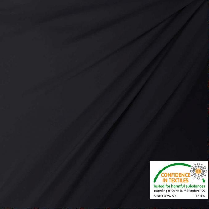 Lycra mat noir reflet marine