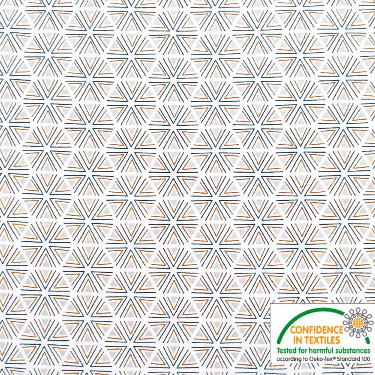 Coton imprimé ETOILES Géométriques