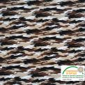 Coton imprimé camouflage sable