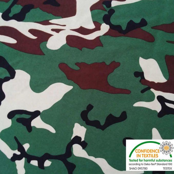 Tissu burlington camouflage