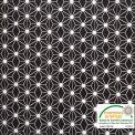 Coton imprimé étoile japonaise noir