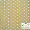 Coton imprimé étoile japonaise moutarde