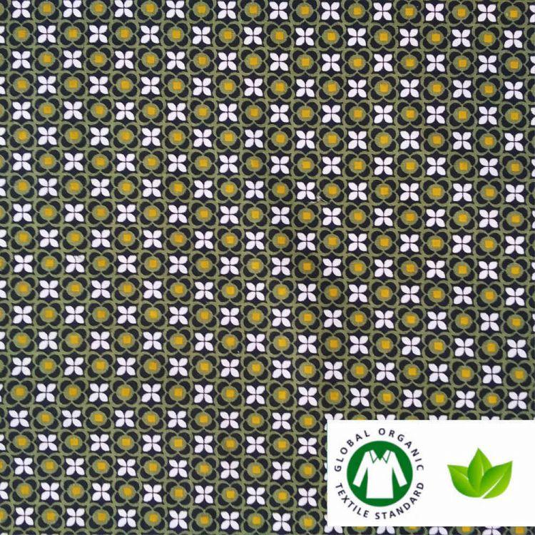 Coton BIO imprimé mosaiques