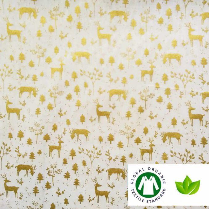 Coton BIO imprimé NOËL rennes