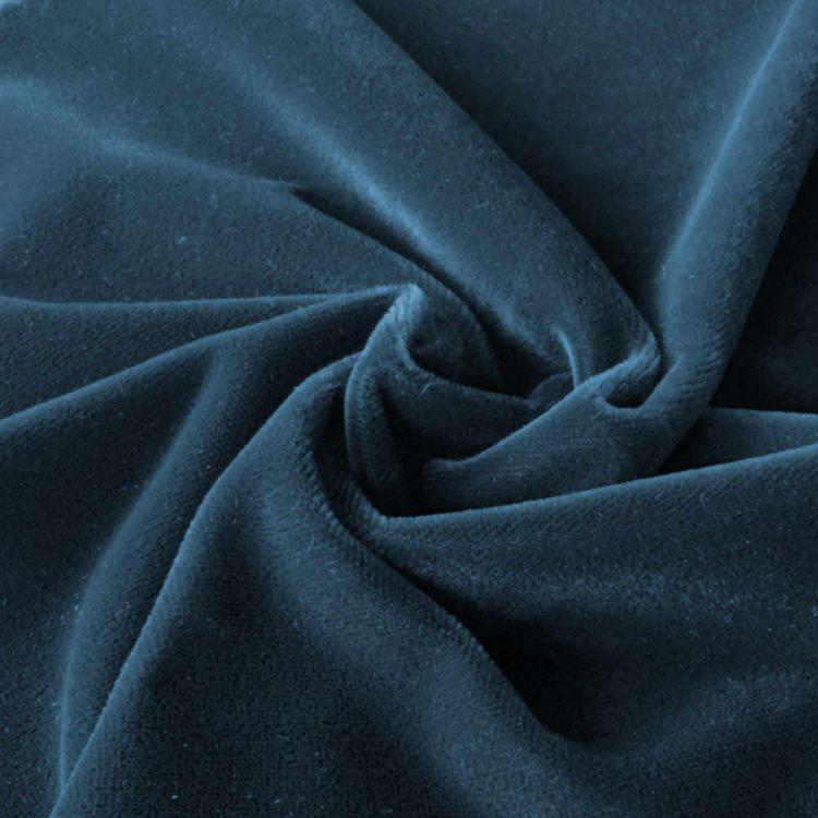 Velours ameublement bleu foncé