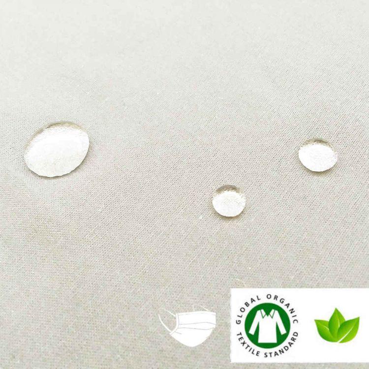 Coton BIO hydrofuge pour masques FFTP-2 ivoire