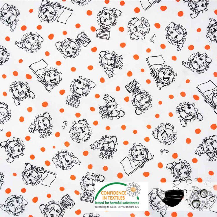 Coton virus hydrofuge pour masques