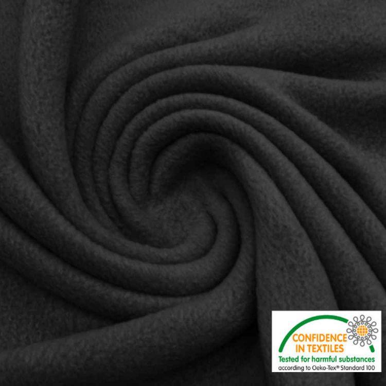 Tissu polaire noir au mètre