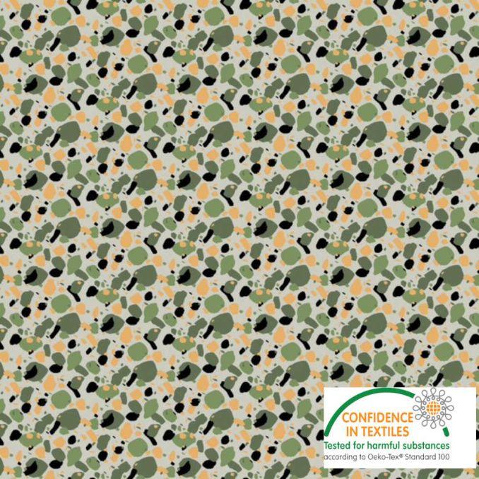 Coton imprimé camouflage moderne