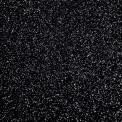Gomme eva paillette noire au mètre