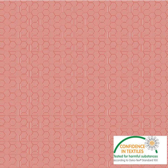 Coton imprimé Texture rose