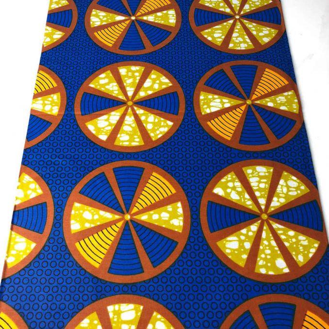 Tissu WAX disque orange