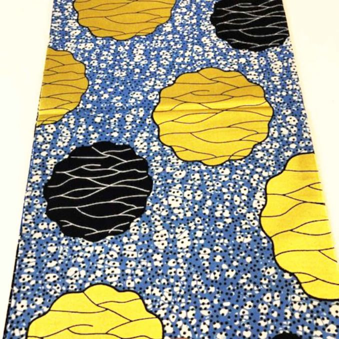 Tissu WAX fruits dorés