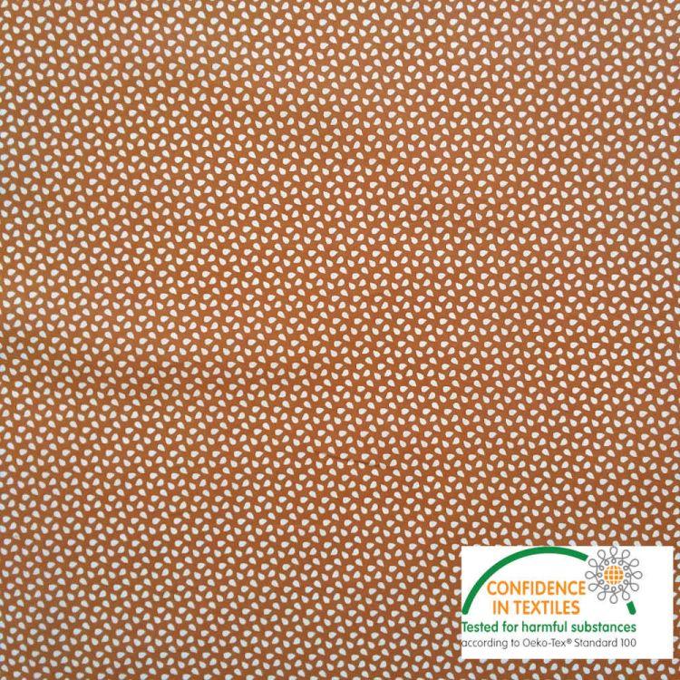 Coton imprimé graines citrouille